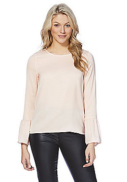 Vila Bell Sleeve Top - Blush pink