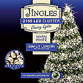 Jingles 2160 Multi-Function 20m Cluster Lights - Warm White
