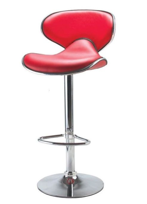 Galaxy Red Faux Leather Bar Stool