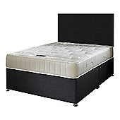 Happy Beds Ortho Royale Mattress Divan Bed Set Plain Headboard Black