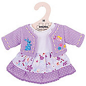 Bigjigs Toys Lilac Rag Doll Dress and Cardigan for 34cm Soft Doll - Suitable for 2+ Years