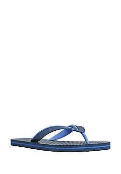 F&F Two-Tone Flip Flops - Navy