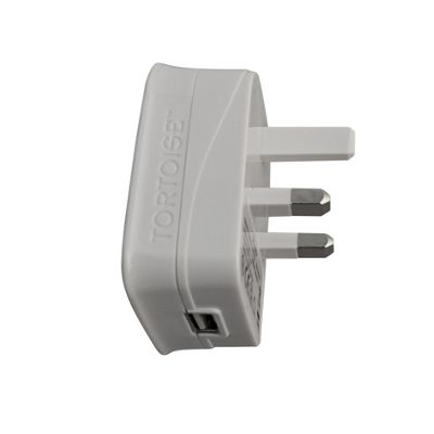 Tortoise™ Ultra Universal Dual USB Mains Charger compatible with most Smartphones Tablets or devices White