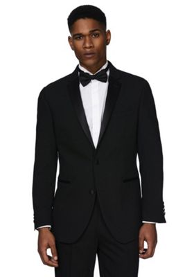 F&F Regular Fit Tuxedo Jacket 46 Chest long length Black