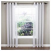 """Marrakesh Voile Eyelet Single Curtain W137xL122cm (54x48"""") - White"""
