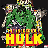 Marvel The Incredible Hulk Comic Retro Printed Square Canvas Wall Art
