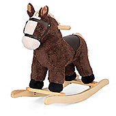 ToyStar Fluffy Rocking Horse - Dark Brown