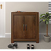 Baumhaus CWC20A Mayan Walnut Large Shoe Cupboard