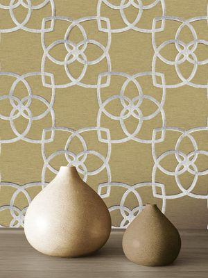Marrakech Geometric Wallpaper Silver and Gold Muriva 701371