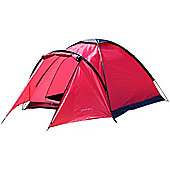 North Gear Camping Mono 3 Man Waterproof Dome Tent Red