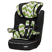 OBaby Group 1-2-3 High Back Booster Car Seat (ZigZag Lime)