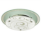 Small Portale Flush Ceiling Light Fitting Polished Chrome