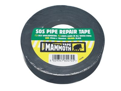 Everbuild SOS Pipe Repair Tape Black 25mm x 10m