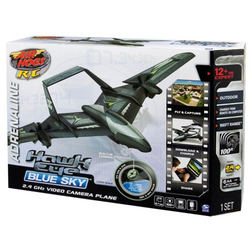 Air Hogs Hawk Eye Blue Sky RC Toy Helicopter