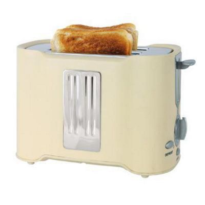 Lloytron E2011CR 2 Slice 850w Toaster - Cream/Chrome