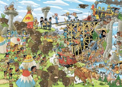 Pieces Of History Wild West - 1000pc Puzzle