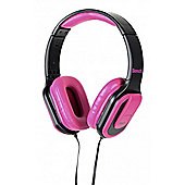 Beat On Ear Headphones with Mic Pink/Black