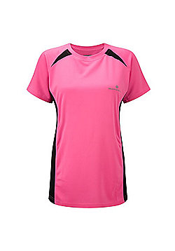 Precision Training Short Sleeved Mens Crew Neck Running Top - Pink