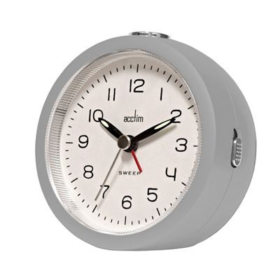 Acctim 15657 Orla Sweep Alarm Clock in Mist Grey