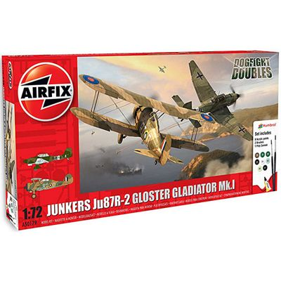 Airfix JU87/Gloster Gladiator Dog Fight Double