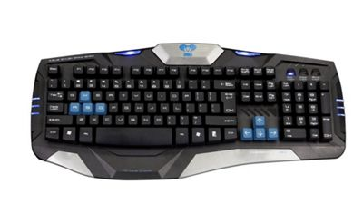 E-blue Combatant-EX USB QWERTY Black Blue keyboard