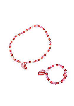Tatiri Cupcake Bracelet and Necklace (Cake Slice)