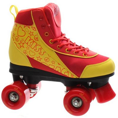 Luscious Retro Quad Roller Skates - Ruby Reds - UK 5