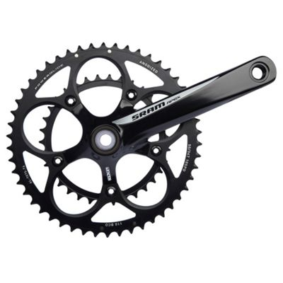 SRAM Apex Black/White Chainset 172.5mm 50-34t Inc GXP BB