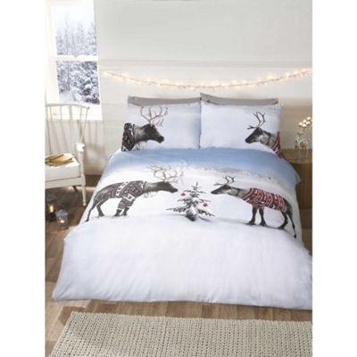 Rapport Reindeer Jumpers Christmas Duvet Cover Set - King