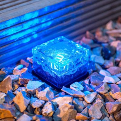 Small Blue LED Solar Garden Path Light