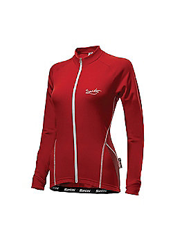 FW 2161 75 MONEL - Santini Ladies Monella Long Sleeve Jersey Red Small