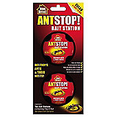Home Defence Antstop Pre Baited Station Kills Ants and Nest - Pack of 2
