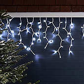 100 Cool White LED Connectable Icicle Lights
