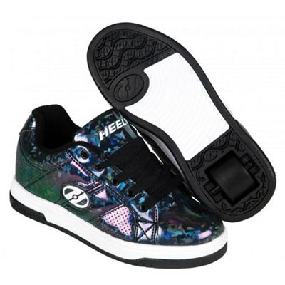 Heelys Spit Black/Hologram Kids Heely Shoe JNR 12