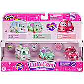 Shopkins Cutie Cars 3 Pack - Candy Combo