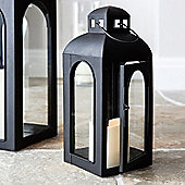 Regular Black Furnace Battery LED Candle Lantern