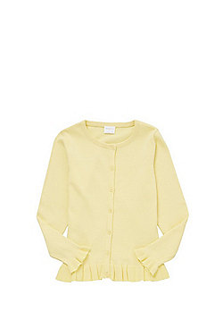 F&F Frill Hem Cardigan with As New Technology - Yellow