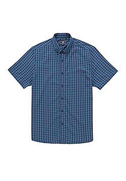 F&F Checked Soft Touch Short Sleeve Shirt - Teal