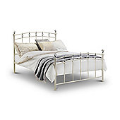 Sophie Stone White with Crystal Effect Finals 4FT6 Double Bed Frame