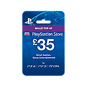 £35 PlayStation Network Wallet Card PS4