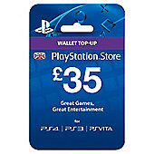 £35 PlayStation Network Wallet Card PS4