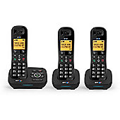 BT 1700 Trio Cordless Home Phone with Call Blocker - Black