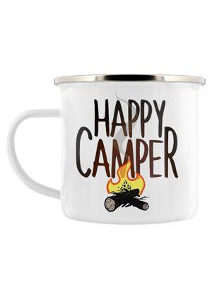 Happy Camper Enamel Mug 8cm