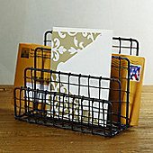 Design Ideas Cabo Letter Holder Hand Woven Wire in Vintage Finish