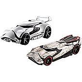 Hot Wheels Star Wars Cars - First Order Stormtrooper & Captain Phasma