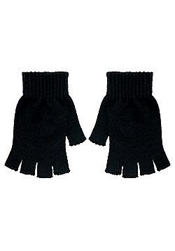 Essential Fingerless Black Gloves - Black