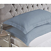 Julian Charles Luxury 180 Thread Count Oxford Pillowcases - Denim blue