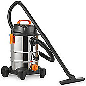 VonHaus 30L Wet & Dry Vacuum With Blowing Function, Lightweight For Indoor Use