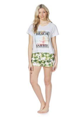 Barbie Beach Barbie Print Loungewear Set Grey/Green 8-10