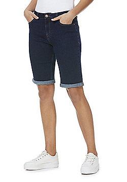 F&F Mid Rise Knee Length Denim Shorts - Indigo Wash